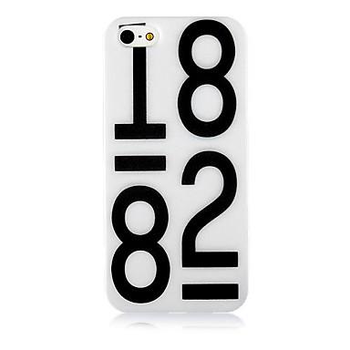 Nunber +1882 Pattern Силиконовый мягкий чехол для iPhone5 / 5S