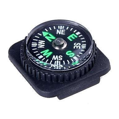 Outdoor Survival Mini Compass PU Leather Watch Attachment Design