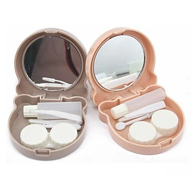Cartoon Cabin Contact Lenses Box Random Color