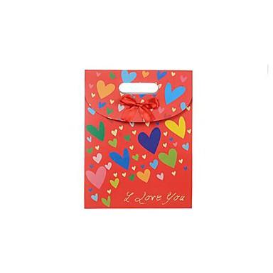 Lureme мод сердца шаблон с бантом подарок мешок (1 шт)
