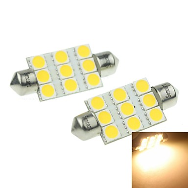 39mm sv8 5 8 3w 9x5054smd 160 180lm 3000 3500k warm wit for Led autolampen