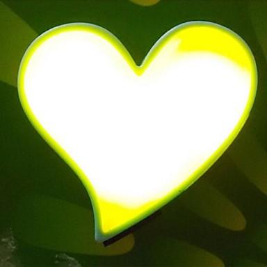 A forma di cuore di colore giallo ha condotto la luce di for Oggetti di colore giallo