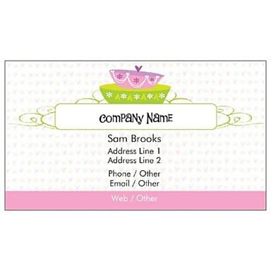 Визитные карточки 200 шт Классический торт Pattern 2-сторонняя цветастое печатание изящных искусств снят бумаги