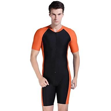 Men Multi-color Nylon Sun Protection Sport Dive Wetsuit Swimwear