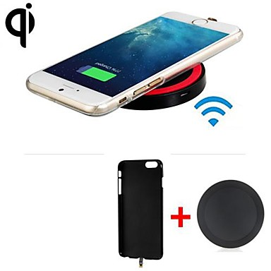 qi r cepteur du chargeur sans fil standard couverture arri re metteur sans fil pour iphone 6. Black Bedroom Furniture Sets. Home Design Ideas