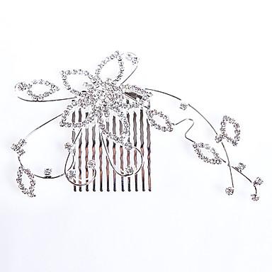 Fashion Alloy Hair Combs Rhinestone Wedding/Party Headpiece