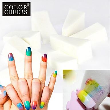 10pcs professionnel manucure ponge nail art outils pour gradient couleur nail art mulit. Black Bedroom Furniture Sets. Home Design Ideas