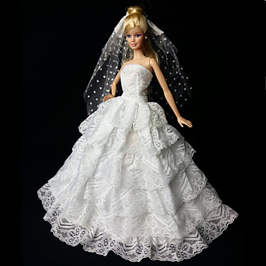 Wedding dresses for barbie doll white dresses for girl 39 s for Barbie wedding dresses for sale