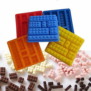 Brick Style Square Sharped Silicone Ice Mold Building