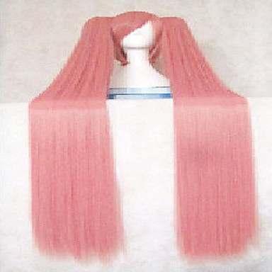 Fashion Pink Synthetic Hair Woman's Cosplay Wig Super Long Straight Animated Wigs Cartoon Full