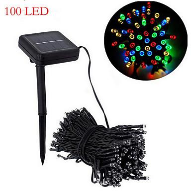 Solar Christmas Lights White Lights29ft 100 LED Waterproof Solar Light String Outdoor for ...
