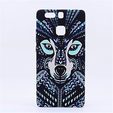 Style Fluorescent Noctilucent 3D cute Cartoon Animal world Wolf Phone Case Cover P9 Plus Mate8