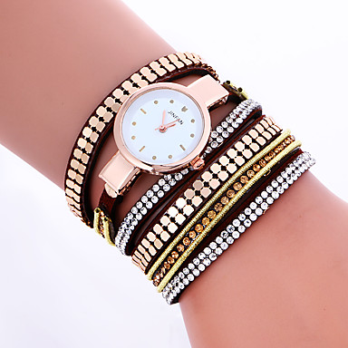 Women Fashion Dress Watches Crystal Luxury Leather Bracelet Wristwatches Quartz Wrist Watch Gift Clock