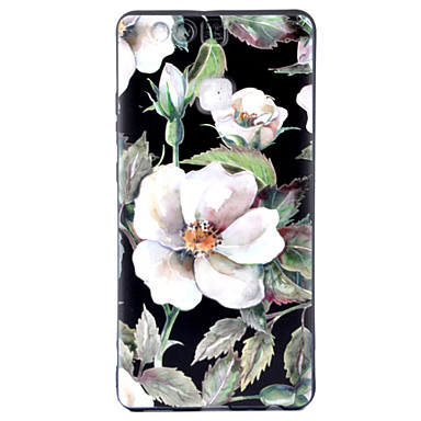 For Huawei P9 Case Cover Flower Pattern Painted Strong Relief Thicker TPU Material Phone Case