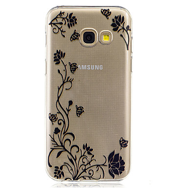 For Samsung Galaxy A3 2017 A5 2017  IMD Transparent Case Back Cover Case Rattan Flower Soft TPU for A7 2017 A510 A310