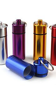 Porta-Comprimidos para Viagem Portátil para Acessórios de Emergência para ViagensPrata Roxo Vermelho Azul Dourado