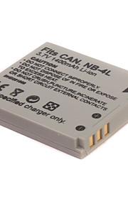 1400mAh camera batterij NB-4L voor canon ixus 50,40 30,40 PowerShot SD200, SD300