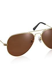 UV400 Solbriller med blændingsbeskyttelse (guld ramme, brunt glas)