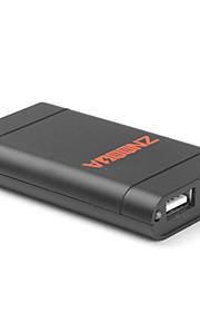 portabel strömbank externt batteri mini LED-ficklampa för iPhone / iPod / mobiltelefoner (svart, 1600mAh)