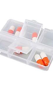 Porta-Comprimidos para Viagem Retangular Portátil para Acessórios de Emergência para Viagens