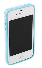 Bumper Frame Case for iPhone 4 and 4S(Blue)