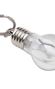 smukke pære formet 4 farveskift lys farverige mini-lys med nøglering ring