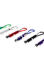 3-em-1 laser vermelho + Luz Branca + Luz UV LED Mini Chaveiro Lanterna (3xLR44)