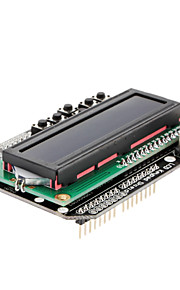 LCD 1602 Keypad Shield for Arduino White on Blue Screen Backlight