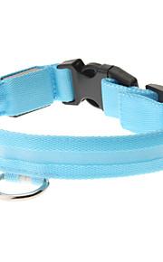 Justerbar High Quality Nylon LED Collar til hunde (Blå)