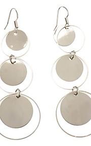 Femtakkede stjerne rund perle Platinum øreringe
