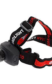 Lanternas LED / Lâmpadas Frontais LED 3 Modo 200 Lumens Foco Ajustável / Tático / autodefesa Outros AAA Outros , Preto Liga de Aluminio