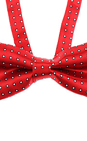 Tiny Spot Pattern bowknot Neck Tie for Husdyr Hunder Katter (assortert farge, Neck: 26-38cm)