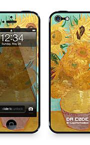 """Da Code ™ Skin voor iPhone 4/4S: """"Zonnebloemen"""" van Vincent van Gogh (Masterpieces Series)"""