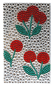 Round Shape Red Flower Jewelry Protective Body Sticker for Cellphone