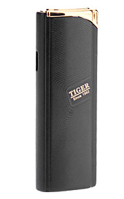 Tiger Finger Mark Pattern Gas Lighter (sølv, rød, sort)