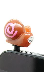 Plastic Snail Pattern Anti-Staub Stecker