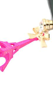 חברו מצופה זהב סגסוגת מגדל אייפל דפוס אנטי אבק (צבעים אקראיים)
