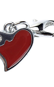 Red Heart Style Collar Charm for Dogs Cats