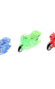 Mini Plastic Motorcykel Legetøj (tilfældig farve)