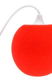 3,5 millimetri Mini Sponge Sphere Audio Dock Stero Speaker audio con connettore femmina per cavo USB per iPhone 5 e altri (23cm)
