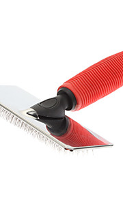 Grooming Aids Combs Metal / Rubber Red