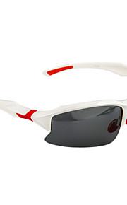 GZ004 Anti-UV polarisert Lense Sport Sykling Briller Solbriller (hvit ramme)