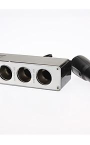 translúcido divisor de potencia socket 1-a-3 cigarrete con puerto usb para el iphone 6 iphone 6 más