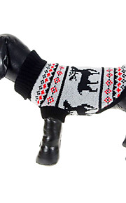 Dog Sweater Gray Winter Animal Christmas