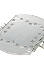 20W 2000LM 6000K LED Emitter Metal Plate - Hvit (16-18V)