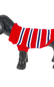 Classic Red and Blue Stripes Pattern Warm Sweater for Pets Dogs (Assorted Sizes)