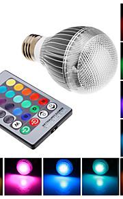 E27 9W לשלב הנורה LED גלוב RGB עם שלט רחוק (85 - 256V)