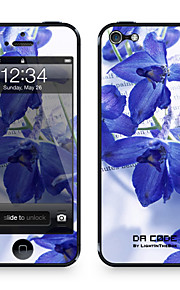 """Da Code ™ Skin voor iPhone 5/5S: """"Blauwe Bloemen"""" (Planten-serie)"""