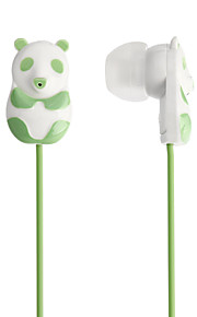 3.5mm 3D Panda Style Music auricolari stereo in-ear (125cm, colori assortiti)