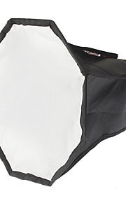 Octangle Folding Speedlight Flash Soft Box (sort + sølv, M-størrelse)